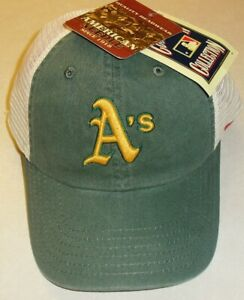 Oakland A's Athletics American Needle snapback hat Mesh sides and back Mlb New