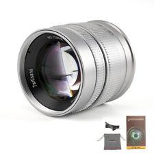 Secondhand 7artisans 55mm F1.4 APS-C Manual Portrait Lens For Sony E/M4/3 Silver