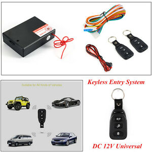 Auto SUV DC 12V Remote Control Central Door Locking Keyless Entry System