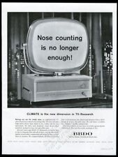 1958 Philco Predicta TV television set photo BBDO advertising vintage print ad