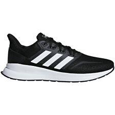Para Hombre Adidas runfalcon Negro Blanco Zapatos deportivos tenis atléticas Tamaños 8-12 F36199