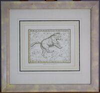 Ursa Major Bear Vintage Original Jamieson 1820 Celestial Atlas Map Print Plate