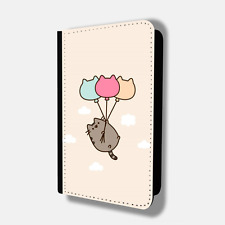 CUTE CAT BALLOONS CAT Passport Holder Travel Protection Flip Cover Case