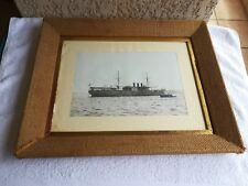 ancienne photographie batiment navire de guerre La Foudre/marine nationale