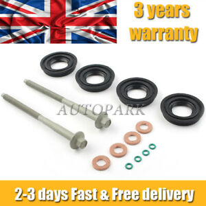 FOR DIESEL INJECTOR SEAL KIT FORD TRANSIT MK7 2.2 TDCi with INJECTOR CLAMP BOLTS