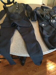 Xcel Mens Full Wetsuit Size MT Hooded Drylock 4/3 Medium Tall MILITARY ISSUED