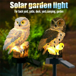 2tlg LED Solar Eule Solarleuchte Garten Gartenbeleuchtung Home Dekor Solarlampe