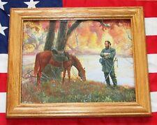 Framed Civil War Painting. Mort Kunstler, CROSS OVER THE RIVER Stonewall Jackson