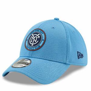 New Era Mens New York City FC New Era Mesh 39THIRTY Stretch Fit Cap - Blue