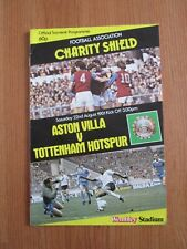 Aston Villa v Tottenham - Charity/Community shield football programme 1981