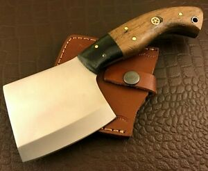 Handmade Axe-Hatchet-Carbon Steel-Bush Craft-Camping-Leather Sheath-Ch40