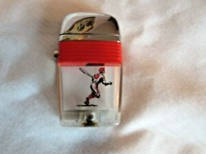Vintage Scripto VU Lighter with Baseball Player