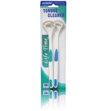 2x/Set Dental Care Cleaner Brush Scraper Handle Oral Tongue Clean Bad Breath New