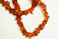 Genuine Side Drilled Amber Chip shape 6x12mm, 38inches 75gr