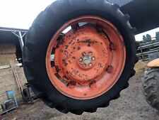 SOLID REAR WHEEL - 12-4 / 11 - 36 TYRE  - REMOVED FROM FORDSON MAJOR