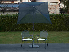 Maffei Parasol Pole Central Pool Art.165Q Black Batyline 180x180 CM