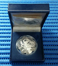 2001 Singapore Snake Silver Trade Dollar 20 gm 925 Fine Silver Proof US$1 Coin