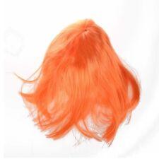 Peluca completa naranja de Cosplay peinado de mono corto fleco completo G1M4