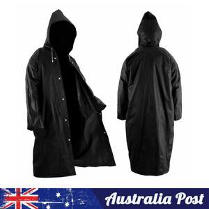 Waterproof Raincoat Jacket Mens Womens Long Hooded Rainwear EVA Rain Coat
