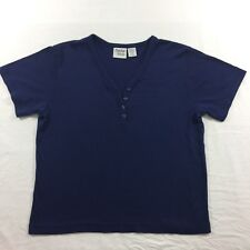 Women's Baxter & Wells Button V Neck T Shirt Size Small Navy Blue Short Sleeves