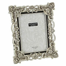 "Antique Silver Vintage Ornate Shabby Chic Picture Photo Frame 7"" X 5"" FR47757"