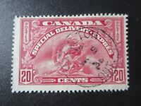 "CANADA STAMPS  #E6 1935 USED ""SPECIAL DELIVERY"" .20c BOB  SON HAMILTON CANCEL"