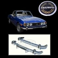 Brand new Triumph Stag MK2 stainless steel bumpers
