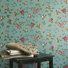 3 rolls of Zoffany Manchu wallpaper ZFLW03005 Turquoise