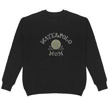 Waterpolo Mom Rhinestone Women's Sweatshirt Plus Size Unisex Bling Cotton Sport