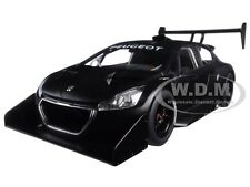2013 PEUGEOT 208 T16 PIKES PEAK RACE CAR PLAIN BLACK VERSION 1/18 AUTOART 81356