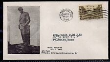 1946 Will Rogers Memorial Cover - Statue at Capitol - Claremore, Oklahoma to OH
