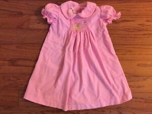Castles and Crowns Girl's Corduroy Pink Smocked Dress Sz 24 Months
