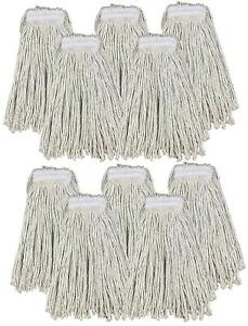 Kentucky Mop Head 16oz Replacement Commercial Cotton Heavy Duty Large 10 Pack