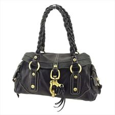Francesco Biasia Shoulder bag Black Gold Woman Authentic Used T5079