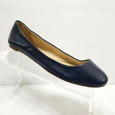 Vera Wang Navy Blue Leather Ballet Flats Size 39 US 8