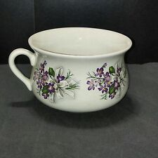 Vtg Portmeirion Mini Chamber Pot Potty Planter Violets Stoke On Trent