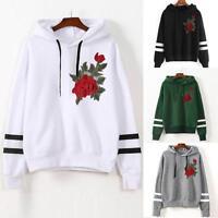 Fashion Women Warm Hoodie Sweatshirt Hooded Sweater Coat Jumper Pullover Tops UK