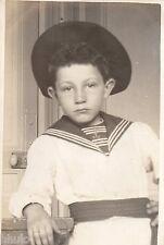 BJ316 Carte Photo vintage card RPPC Enfant garçon déguisement Marin beret