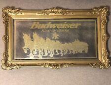 Rare 58� Budweiser Gold Clydesdale Horse Mirror Beer Sign Anheuser Busch
