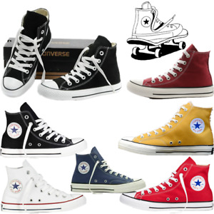 Unisex Classic Womens Mens High/Low Tops Canvas Trainers Pumps Sports Shoes UK