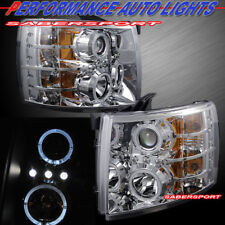 Set of Projector Headlights w/ Halo and LED parking for 2007-2013 Silverado