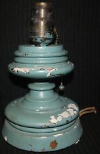 Vintage Wood Table Lamp For Restoration. Pull Chain Ball Pat May 9 11