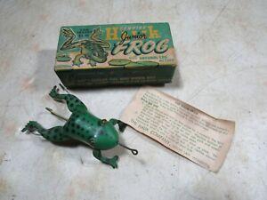 Vintage Halik Jr. Frog Fishing Lure W/Box & Paper NOS NIB