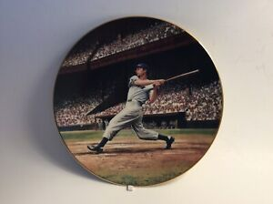 JOE DIMAGGIO: THE STREAK COLLECTOR PLATE #15659D GREAT MOMENTS B'BALL 1ST ISSUE