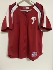Philadelphia Phillies Red Nike Baseball Jersey Youth Medium Excellent Condition