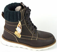 Hush Puppies Stiefel 35 LEDER Boots Dunkel Braun Boots Warm Stiefeletten NEU
