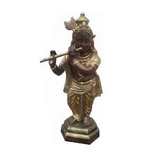 Déco Figurine Statuette Sculpture 82 CM Statues Flûte Bouddha (B60)