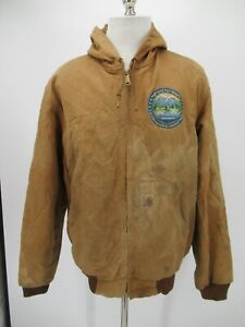 M1794 VTG Men's Carhartt Therma-Lined Duck Active Jacket Made In USA Size L