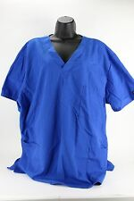 Cherokee Workwear Scrub Top Blue Two Pocket Scrubs Shirt Uniform Clothing