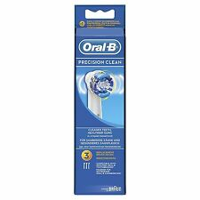 Oral-B PrecisionClean Electric Toothbrush Replacement Heads Powered Braun 3 Pack